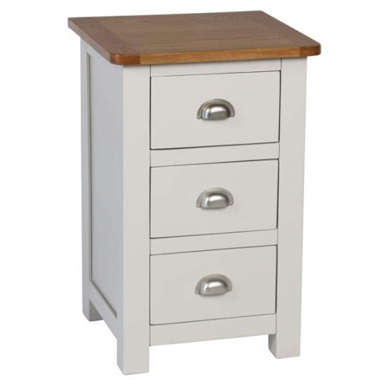 fontaine three drawer bedside
