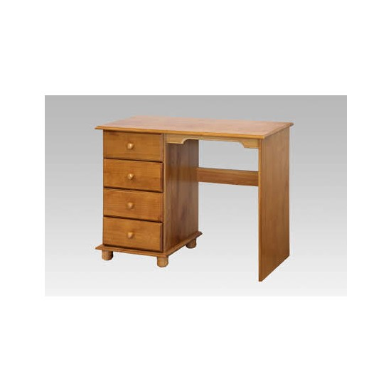 pine four drawer dressing table