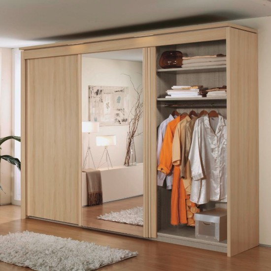 imperial sliding three door wardrobe