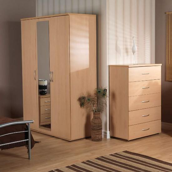 regal three door wardrobe